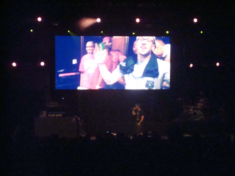Andy Mineo on Screen - Unashamed Tour 2012