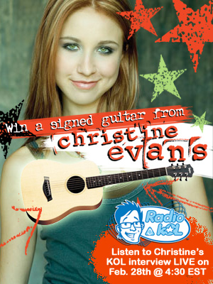 Christine Evans on KOL Radio Today