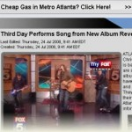 Third Day Featured and Performs on Atlanta Fox Channel 5